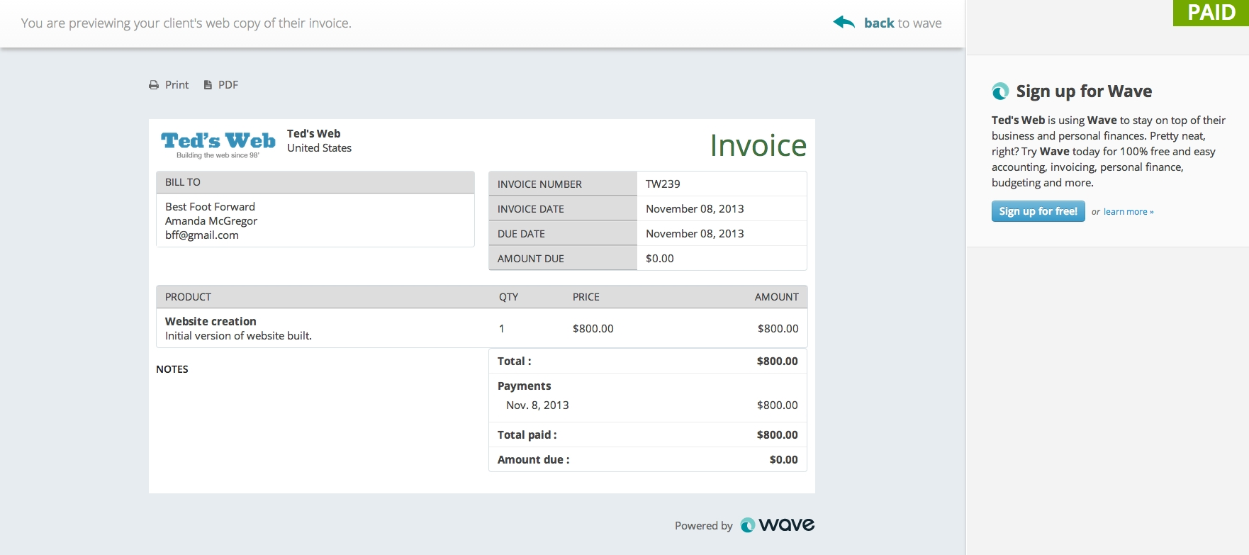 invoicing wave covers the full invoicing cycle wave small wave accounting invoice