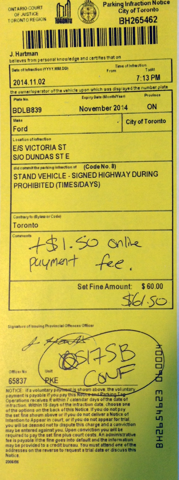 parking tickets issued at etobicoke plaza aren39t the real thing parking invoice toronto