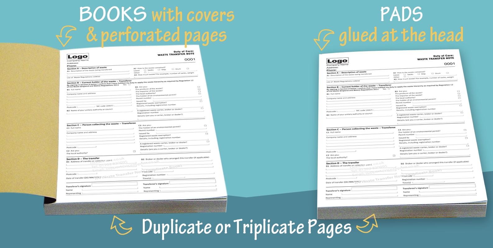 personalised duplicate invoice books invoice books printing duplicate amp triplicate pads 1587 X 800