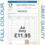 Personalised Duplicate Invoice Books