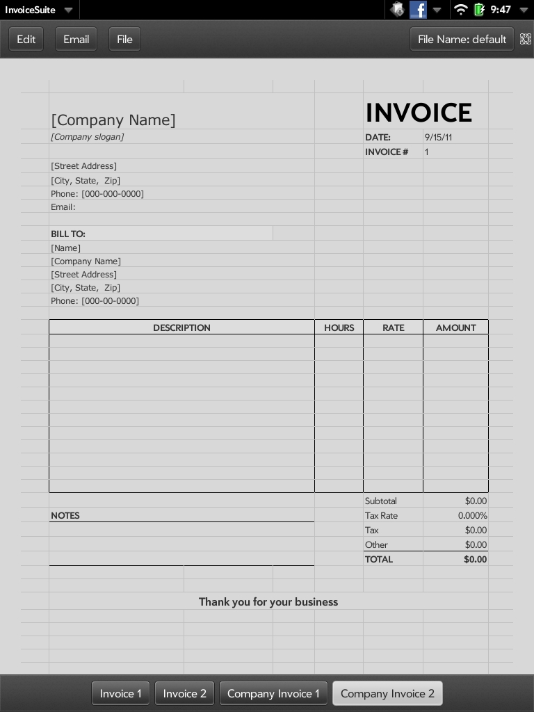 quick app invoice webos nation self employed invoice