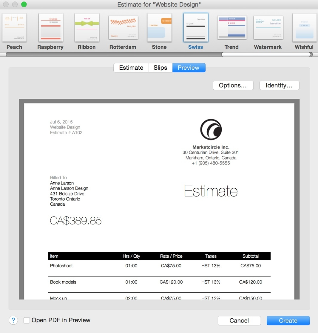 Invoices And Estimates Pro