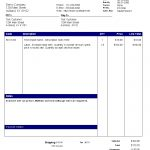 Professional Invoice Format