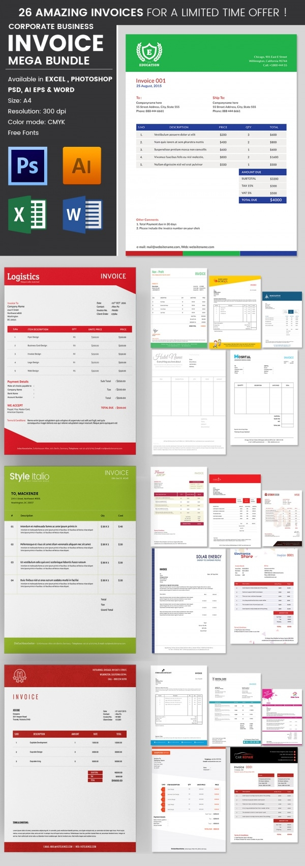blank invoice template 20 download free documents in word corporate invoice template