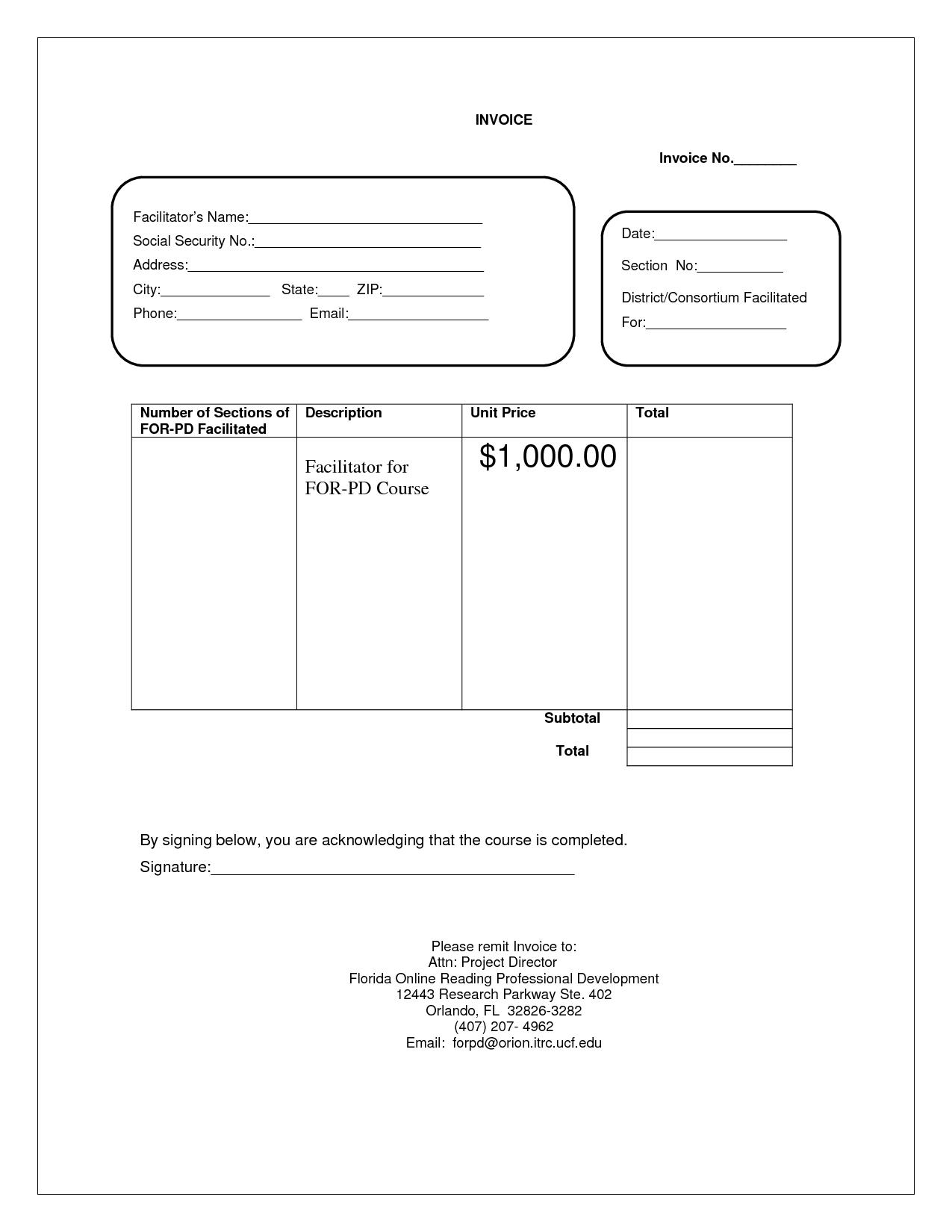 ... Blank Service Invoice Free Invoice Creator Resume Template Info Pdf  Invoice Creator  Pdf Invoice Creator