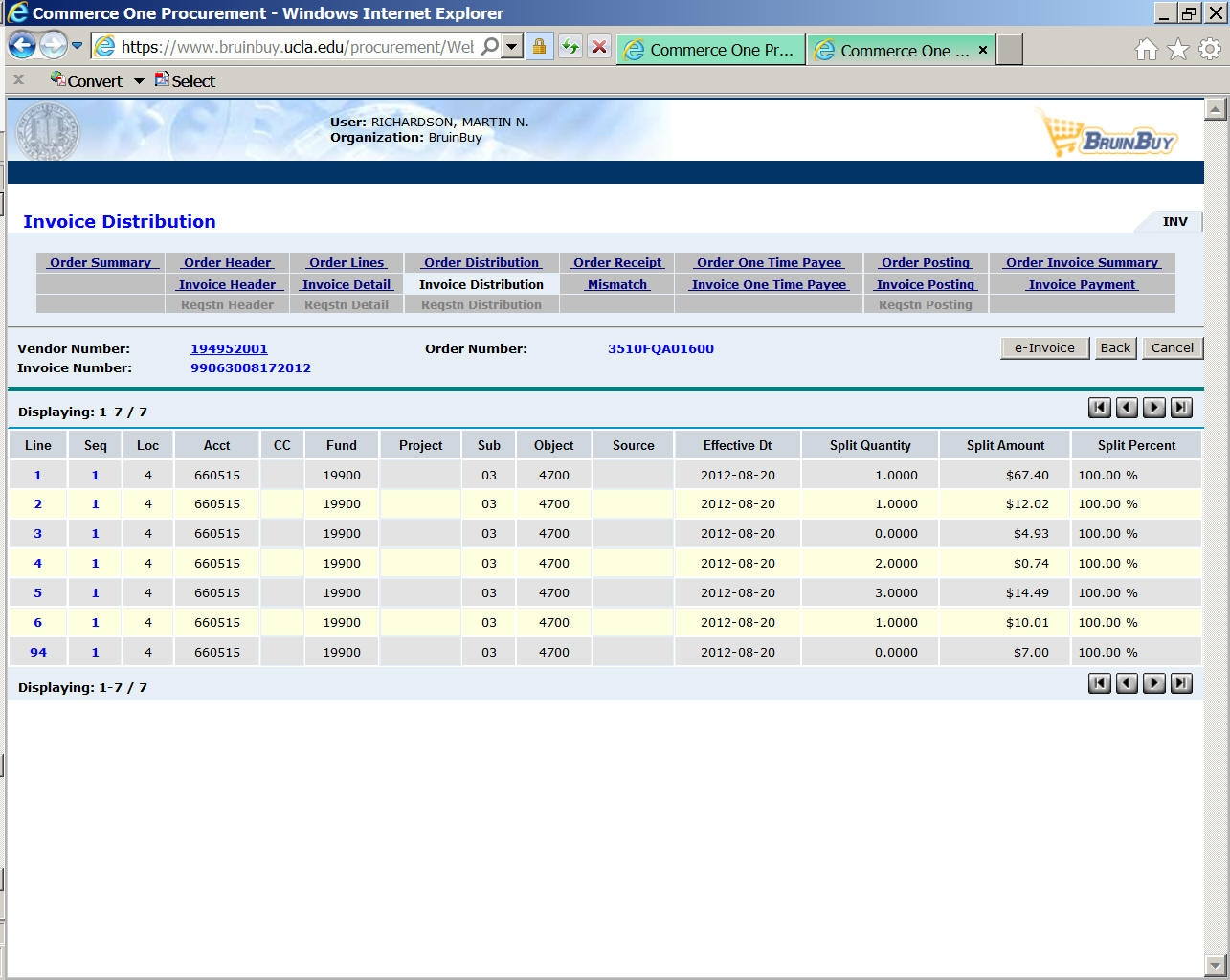 chapter 15 information access vendor invoice definition