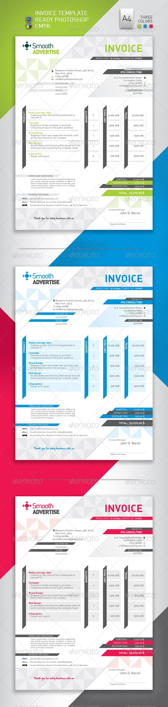 corporate invoice template seven corporate invoice template