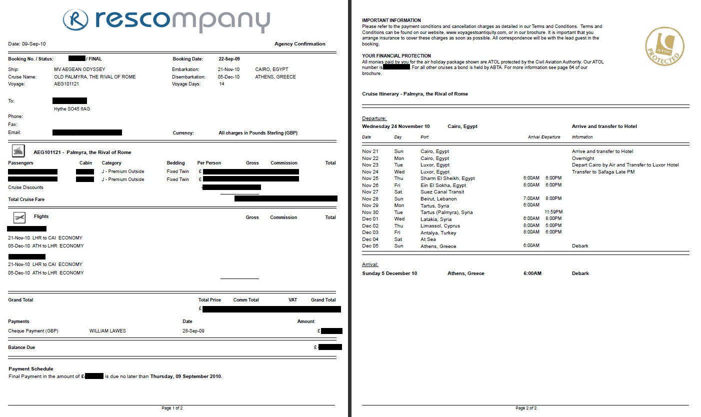 custom reports rescompany systems ltd travel agency invoice format