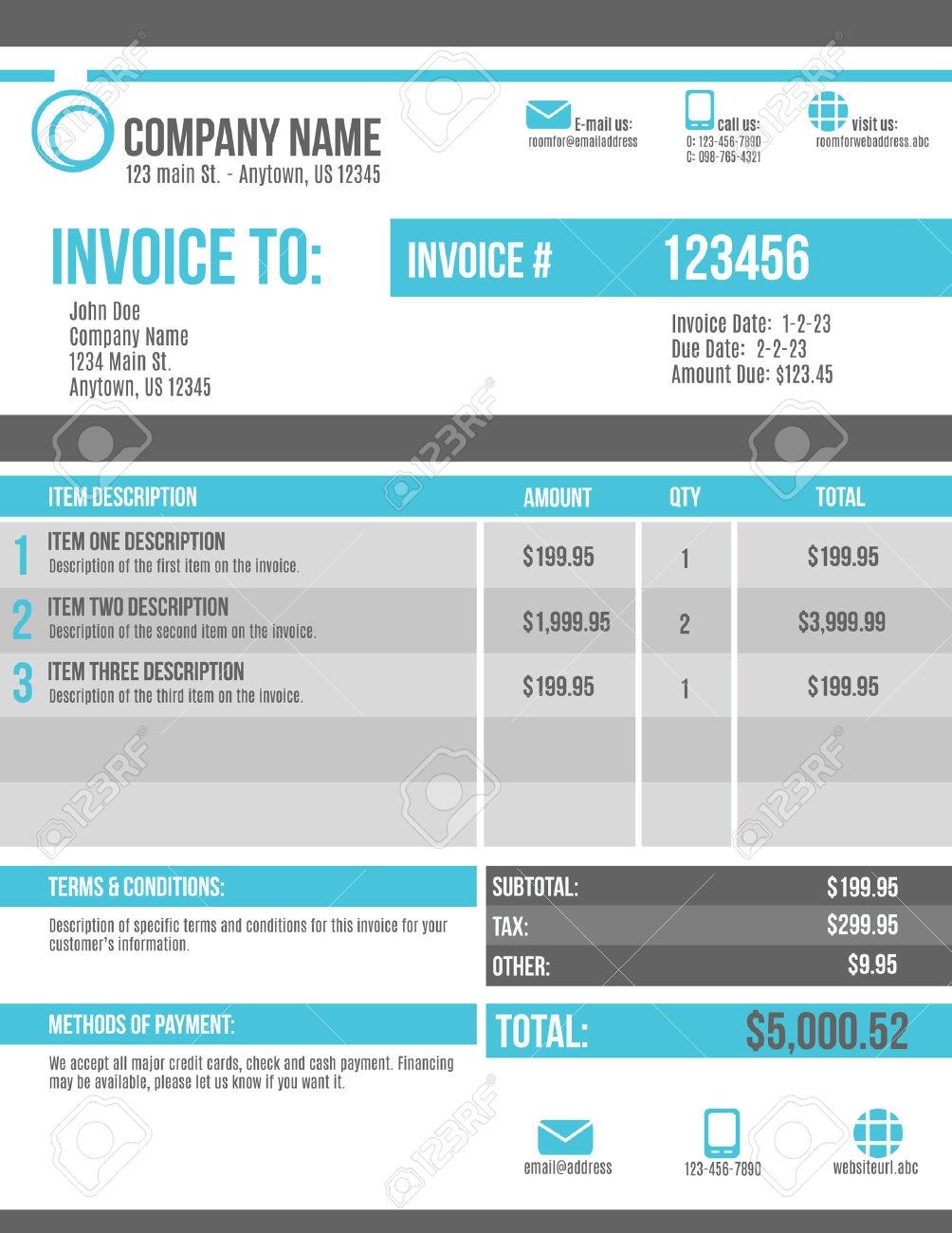 Customizable Invoice Template