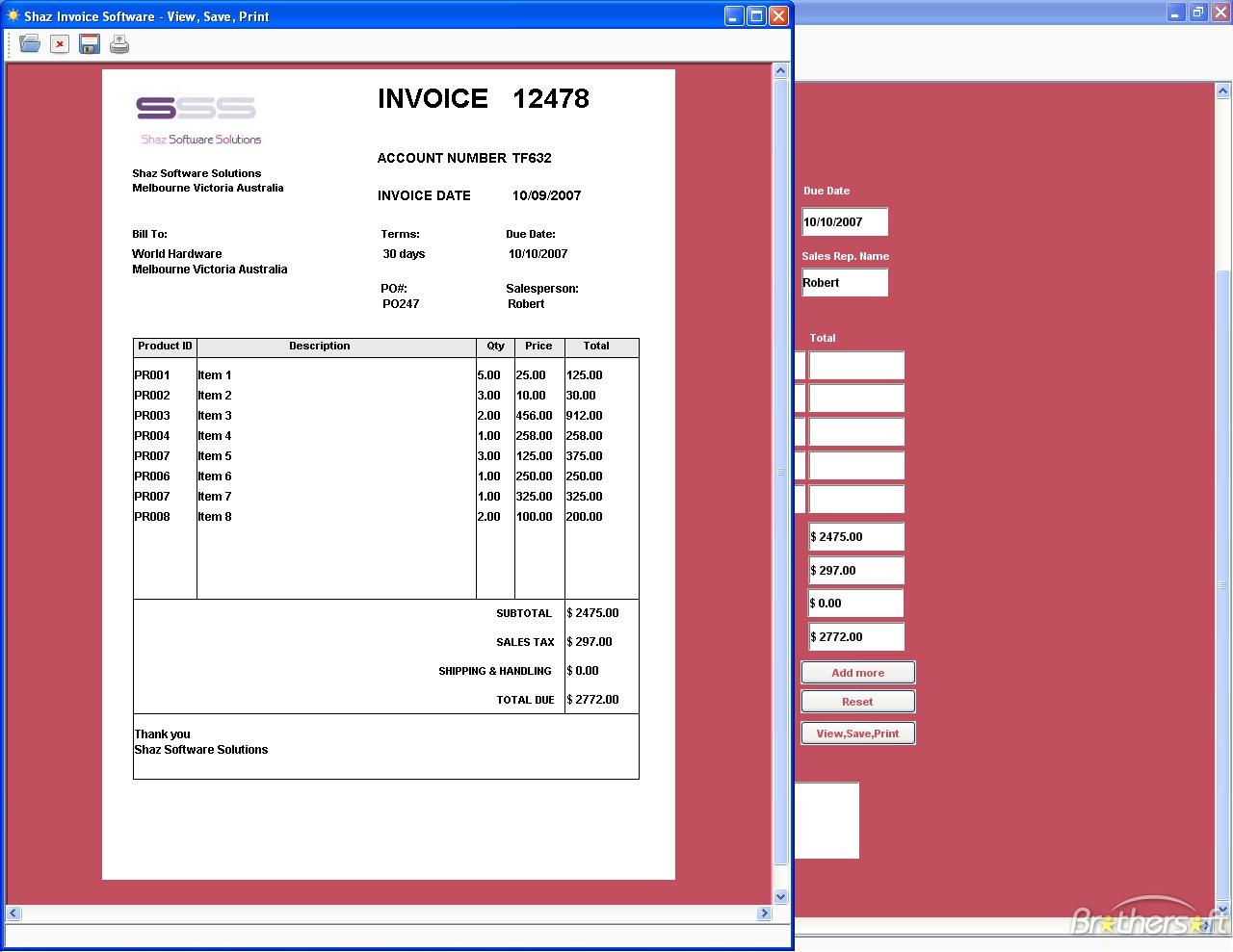 Free Invoice Program
