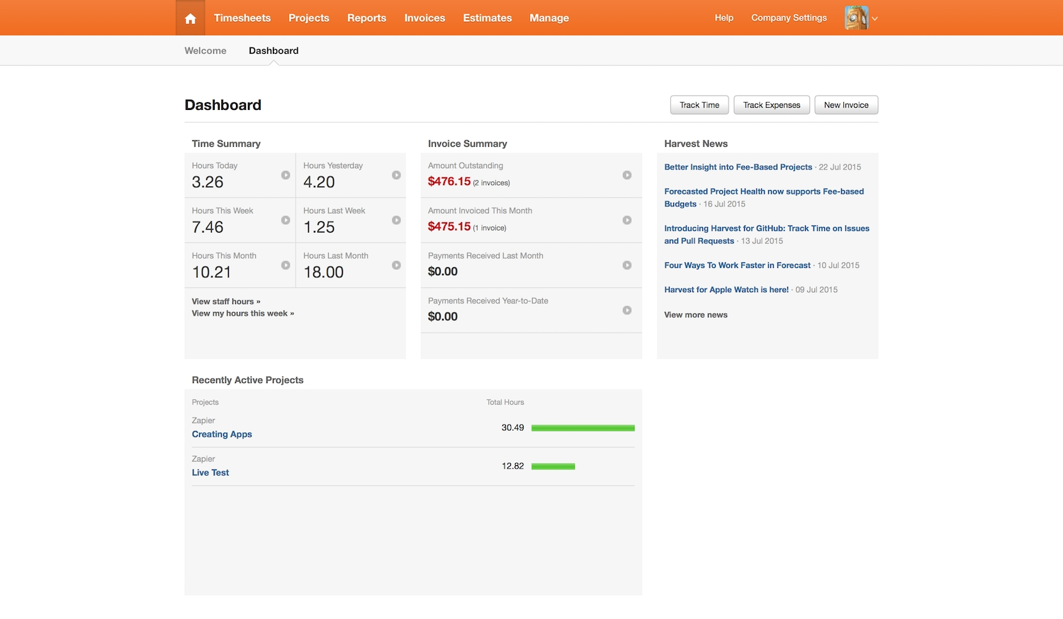 harvest review pricing features and alternatives zapbook zapier get harvest invoice