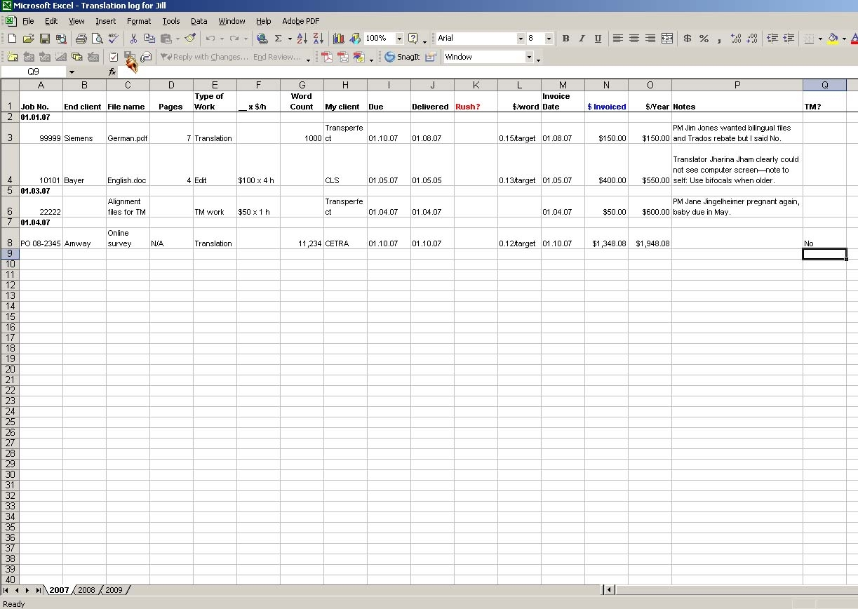 i don39t need no stinkin39 job tracking system musings from an invoice tracking spreadsheet