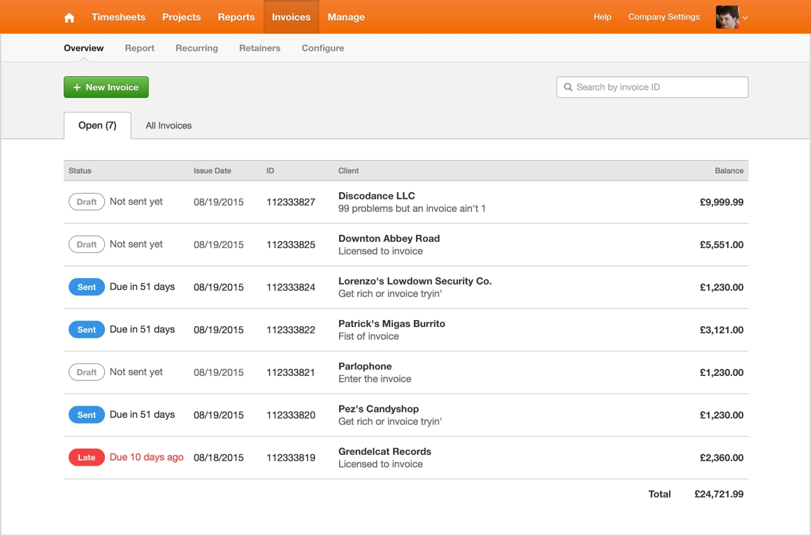 introducing the new invoices overview harvest get harvest invoice
