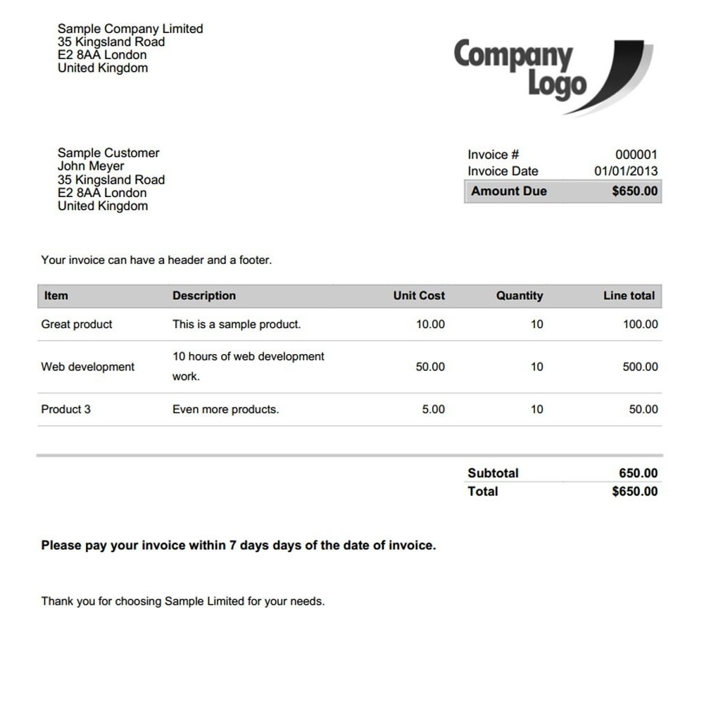 invoice amp delivery pdf template builder pro prestashop addons template for an invoice