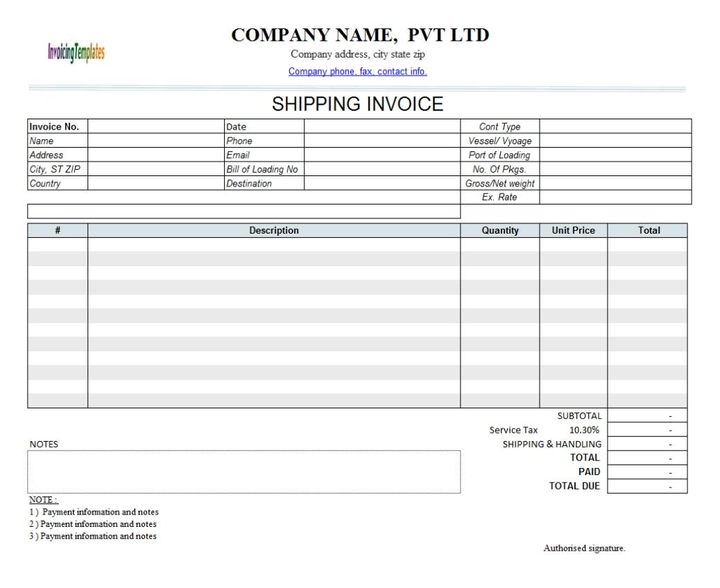 Manual Invoice Template Invoice Template Ideas – Manual Format Template