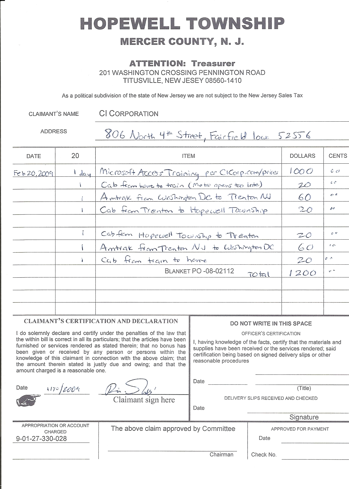 new page 1 invoice for purchase order