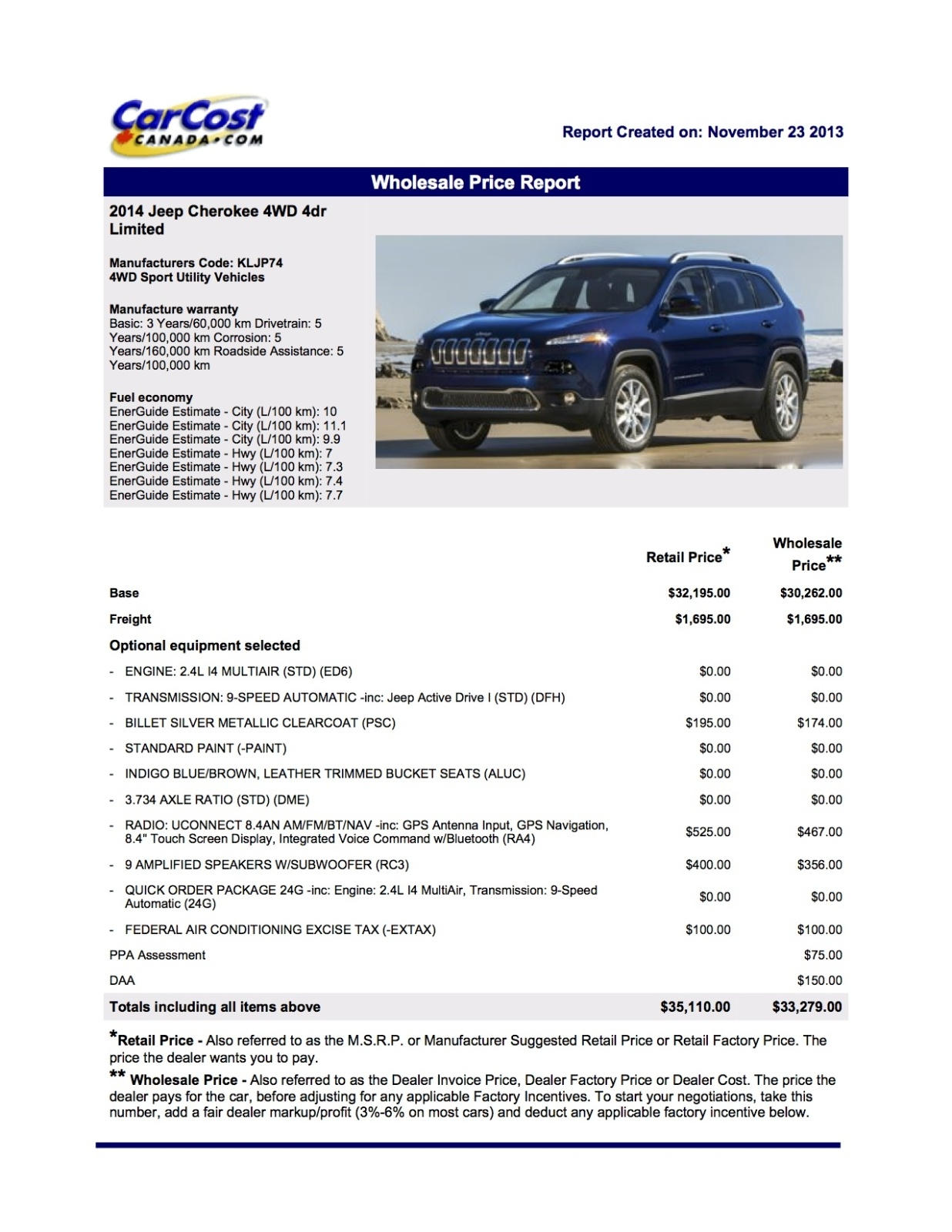 pricing real pricing page 10 2014 2015 jeep cherokee forums invoice price for cars in canada