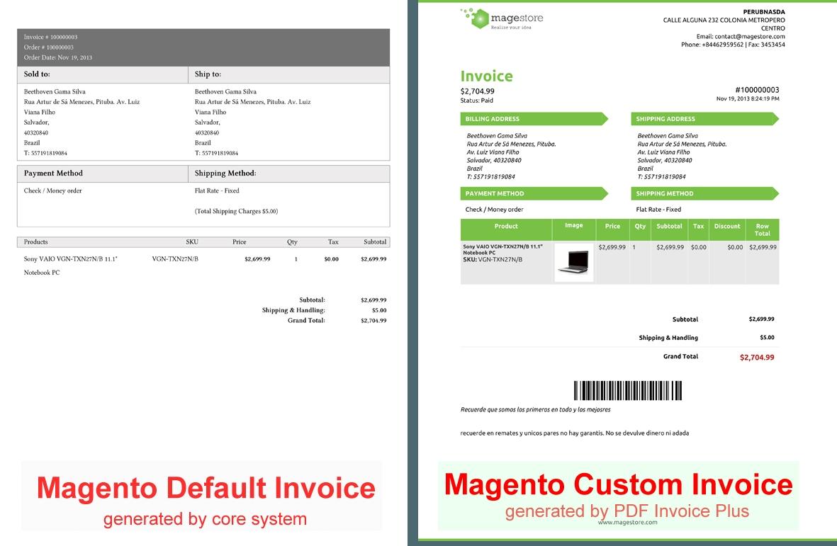 Magento Invoice Template