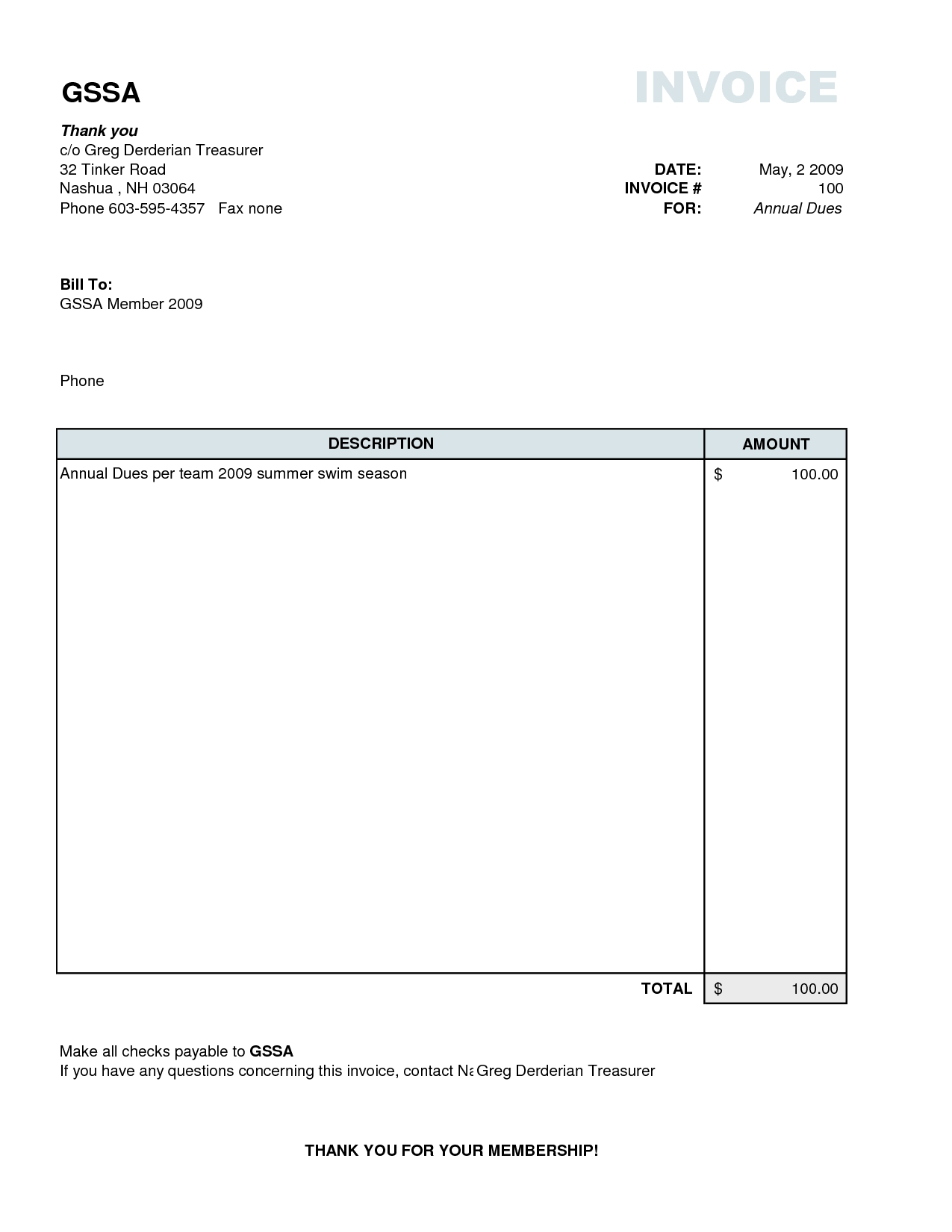 simple free invoice template simple invoice form 1275 X 1650