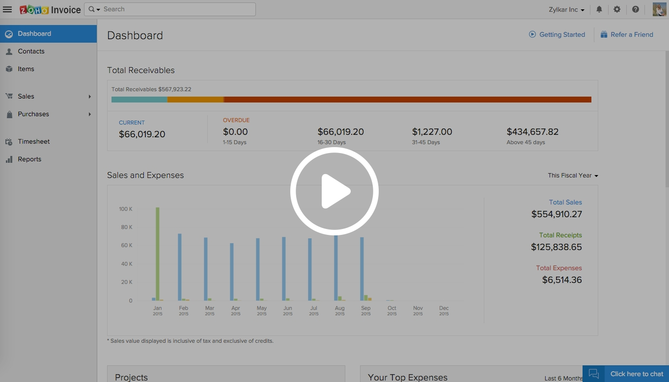 simple invoicing software for small business zoho invoice zoho invoice free