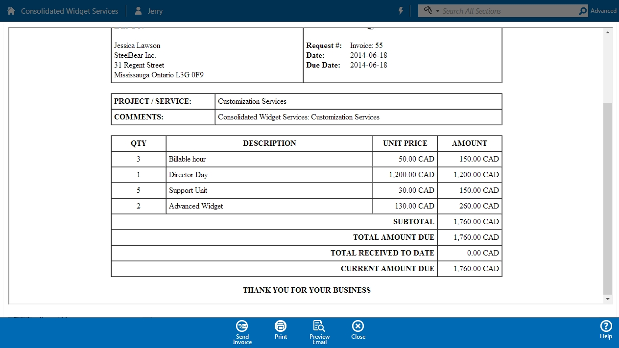small business invoicing and payment processing bluecamroo crm invoice to be paid