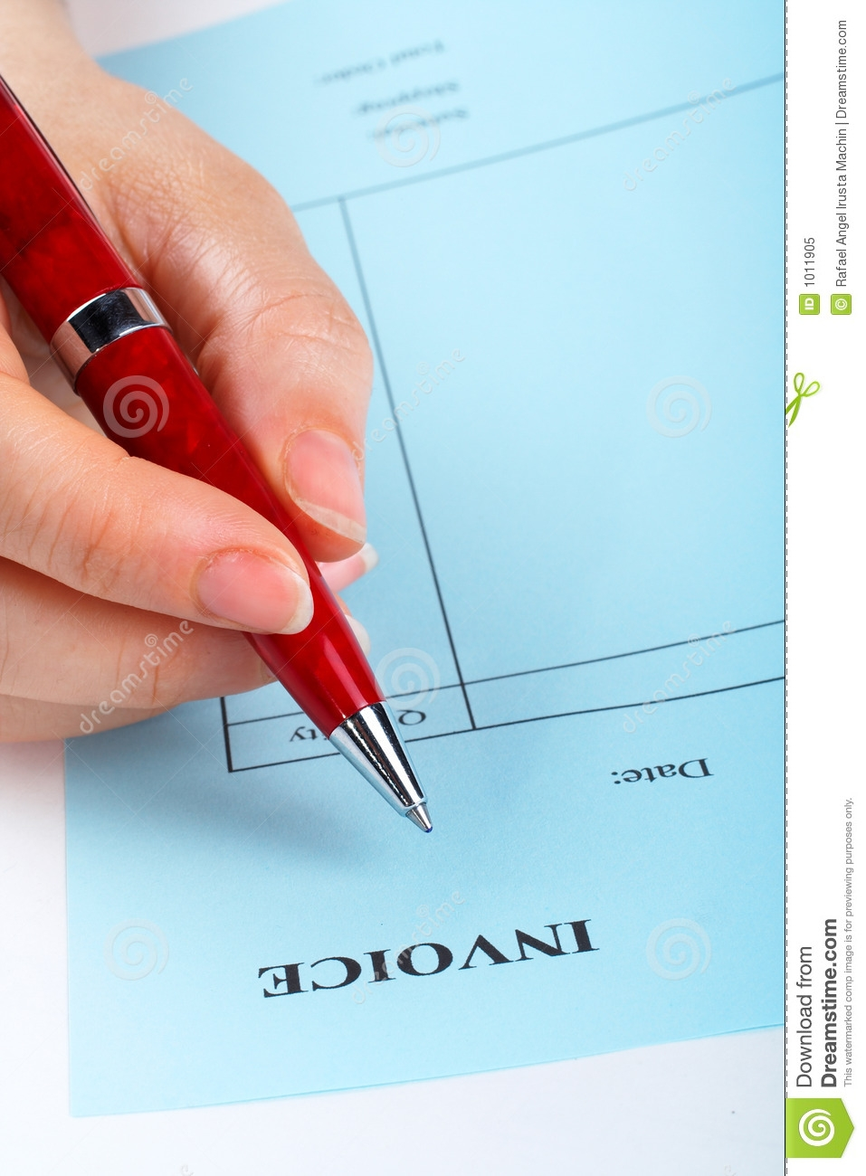 writing blank invoice with pen royalty free stock photo image writing a invoice