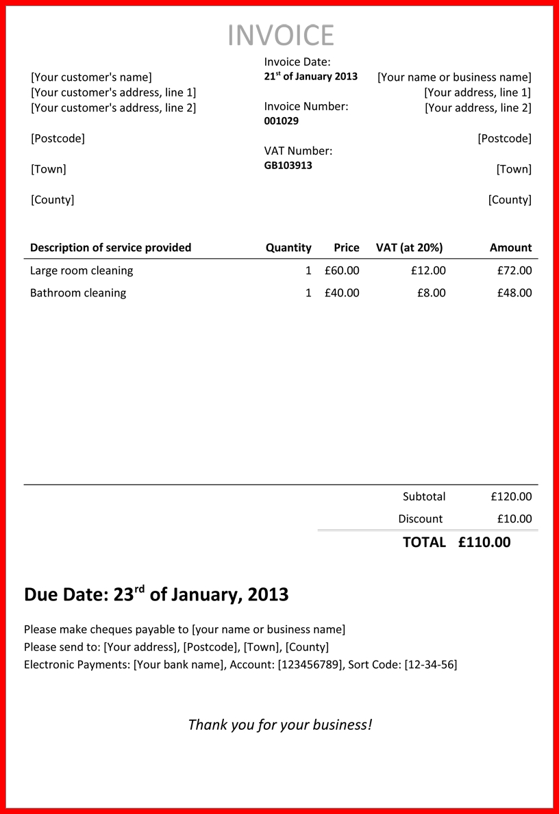 10 self employed invoice officialletterformattop invoice self employed