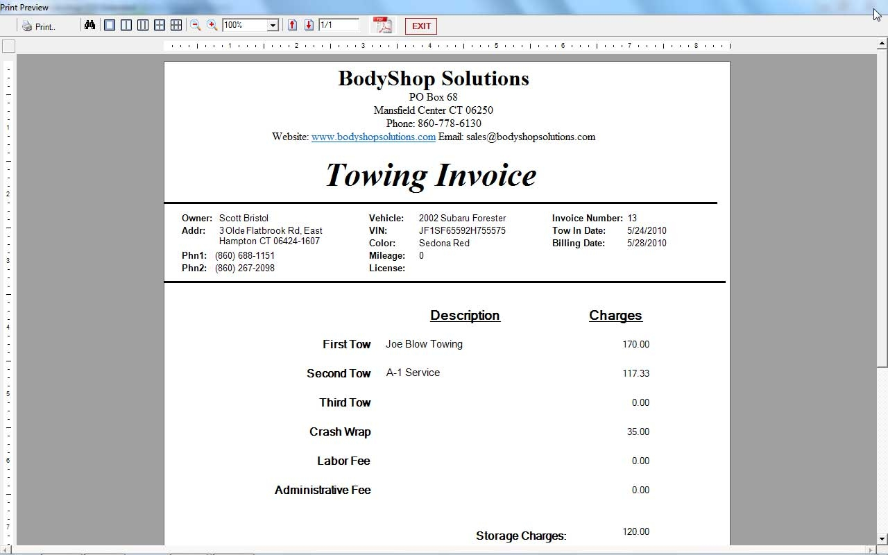 11 best photos of towing invoice template printable towing tow truck invoice