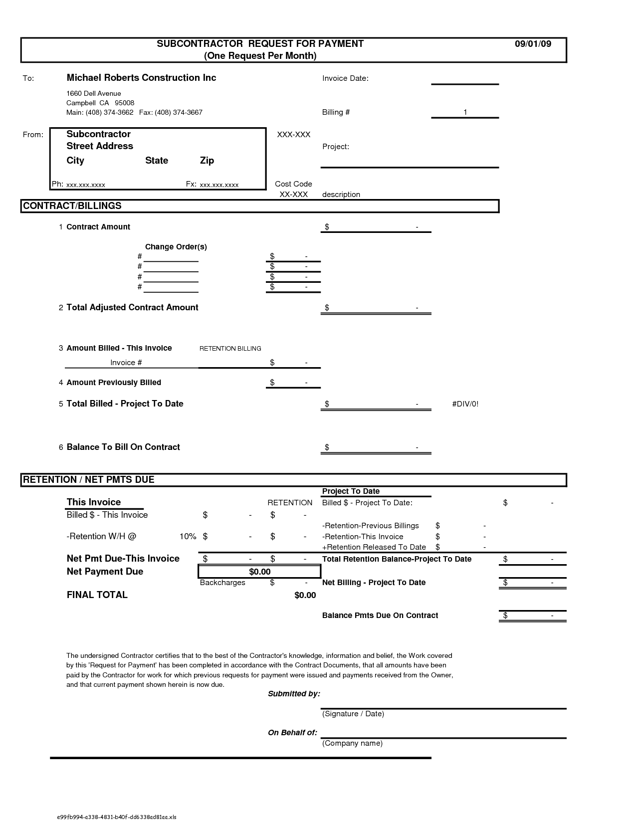 Construction Invoice Template Free Invoice Template Ideas – Construction Invoice Template