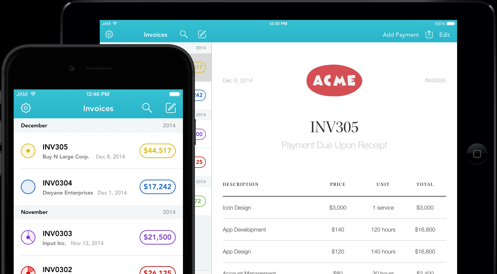 alto invoicing software for iphone ipad and ipad pro invoice app for iphone