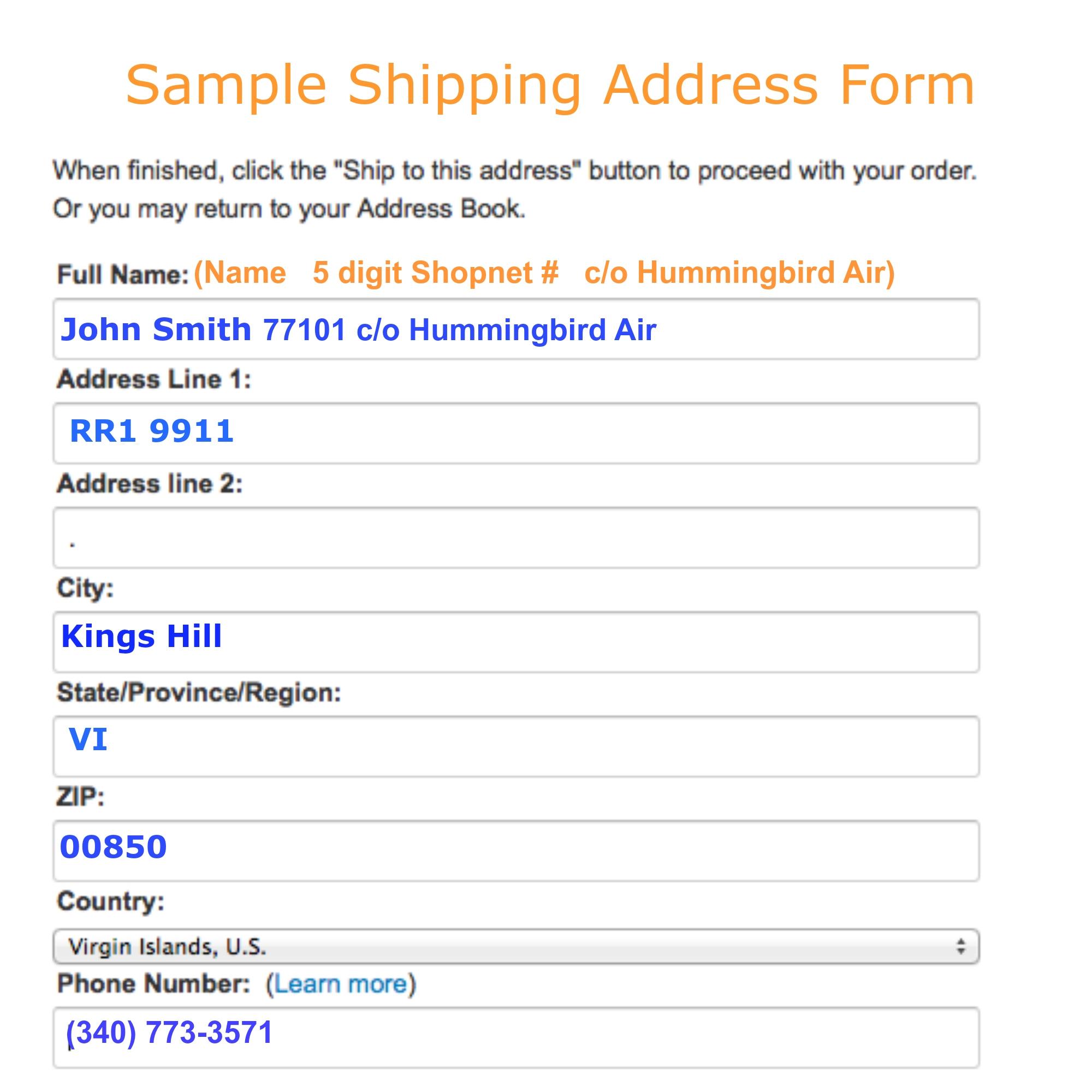 amazon invoice address