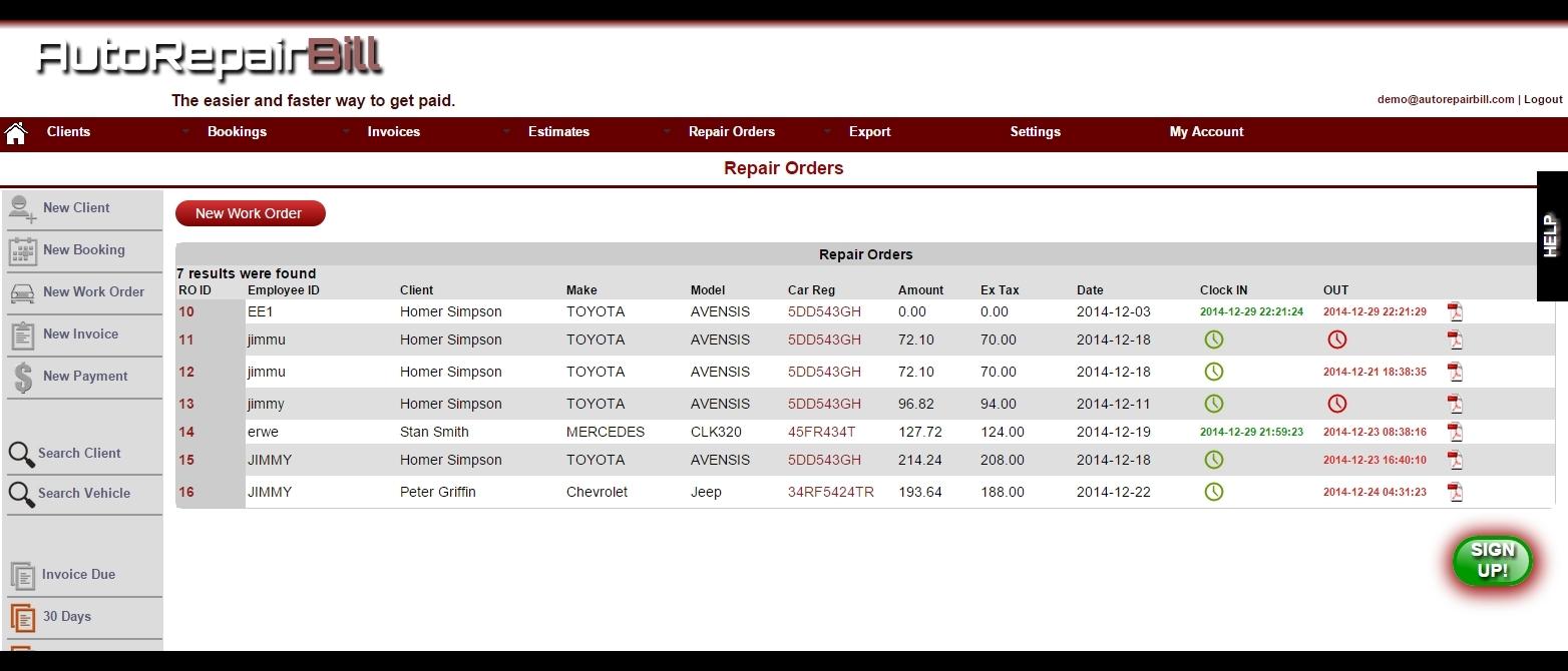 automotive invoice software invoice template free 2016 auto repair invoice software