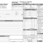 Hvac Service Order Invoice