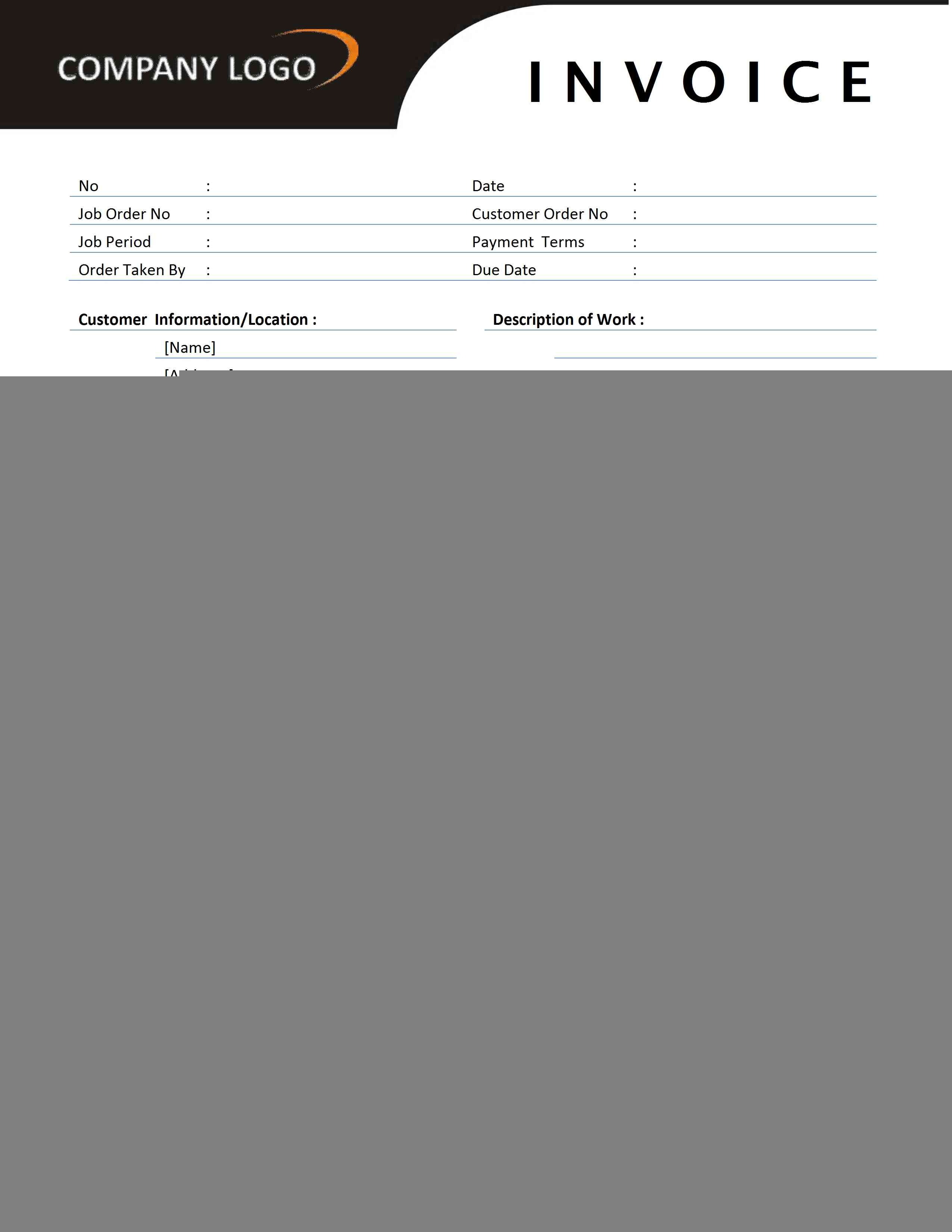 contractor invoice template free microsoft word templates contractor invoice template word