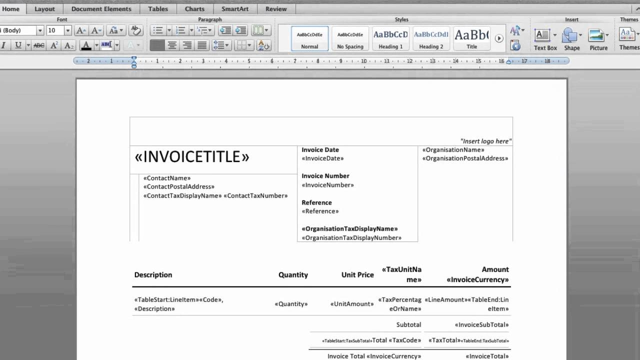 Make your own invoice template invoice template ideas for Create software online