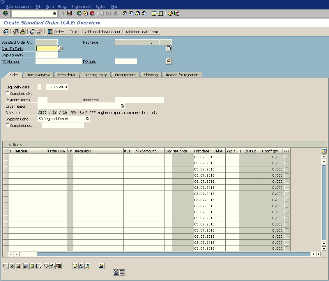 Sap Invoice Table
