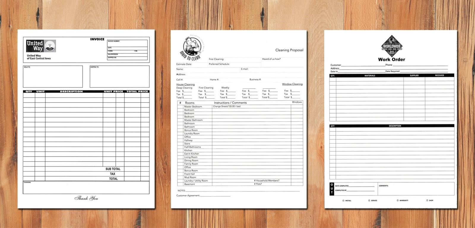 custom carbonless forms carbonless custom carbon copy invoices