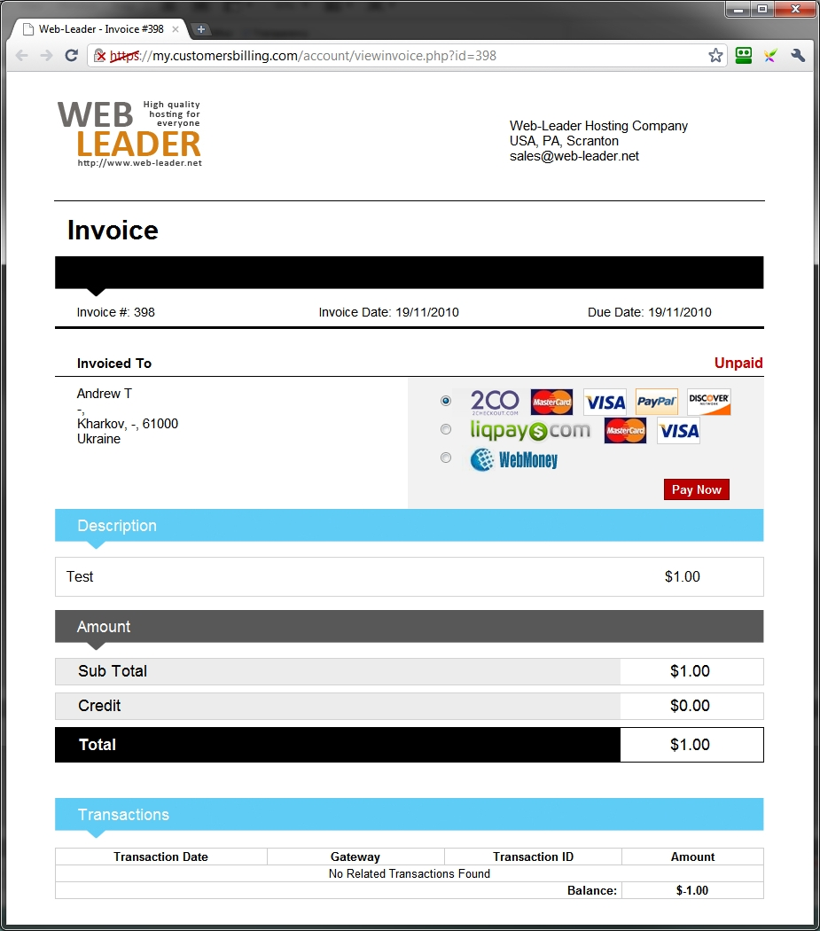 Whmcs Invoice Templates