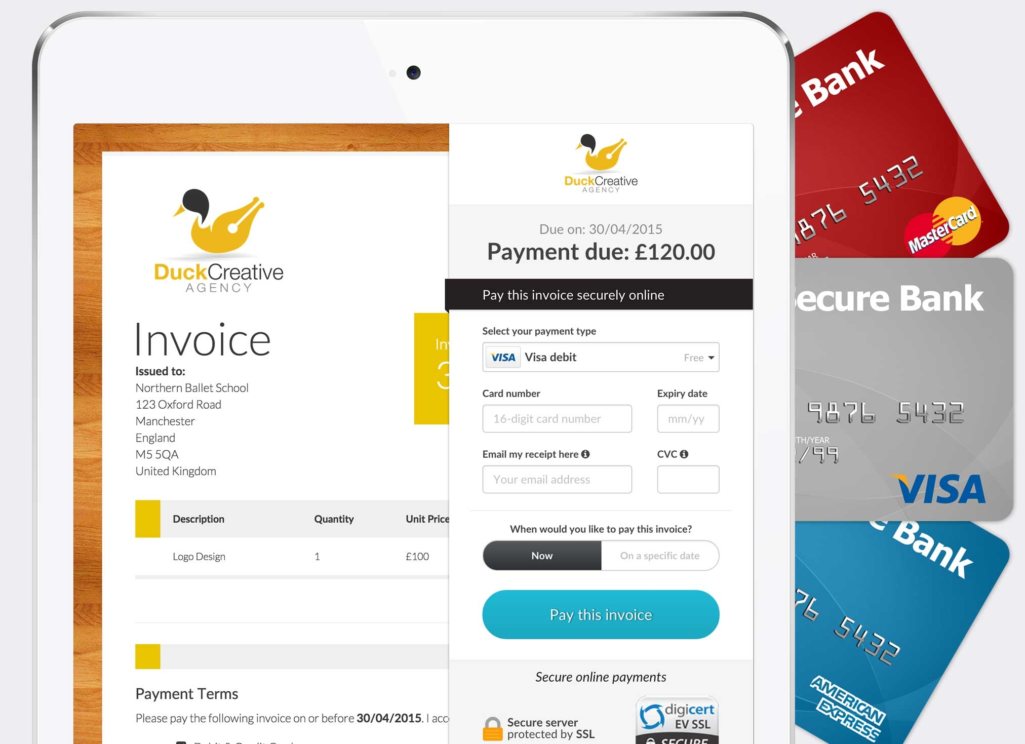 duecourse invoice better get paid faster make an invoice online