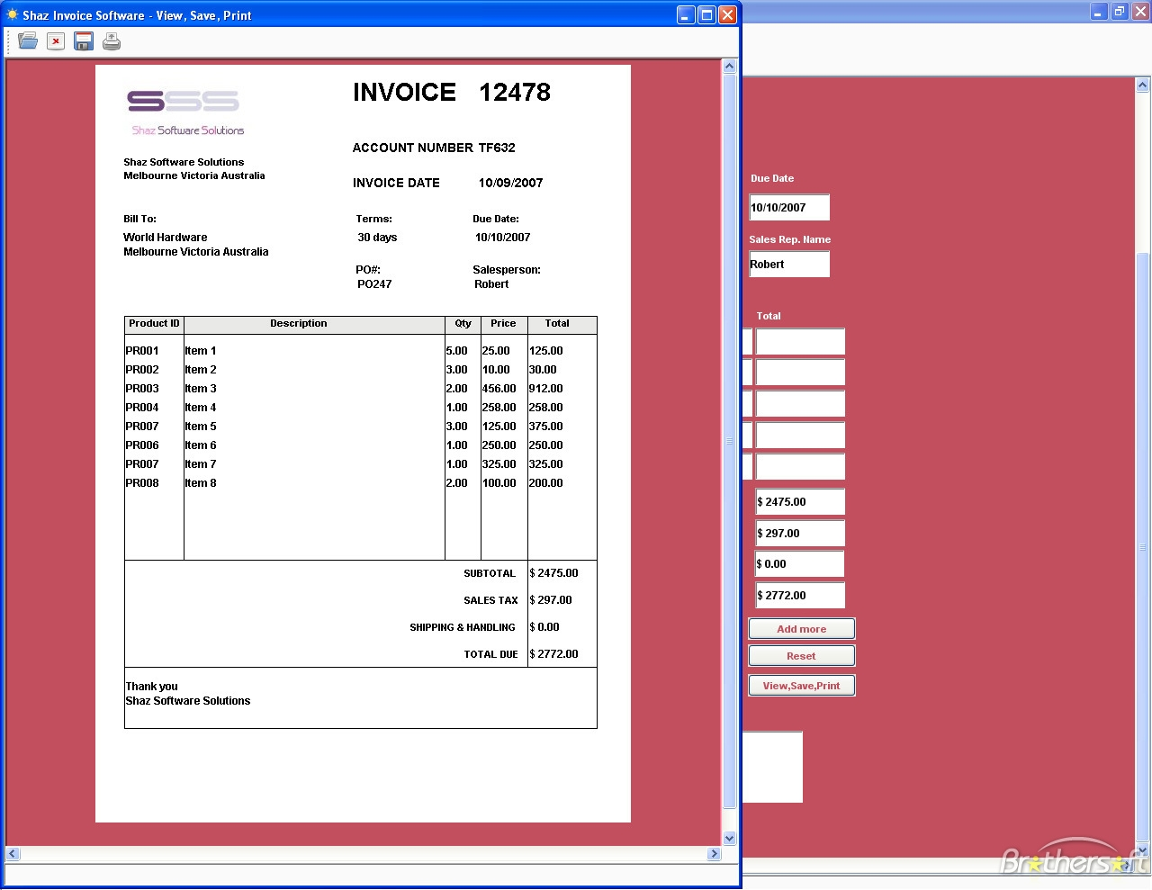 free invoice making software download free shaz invoice software shaz invoice software 100 1280 X 989