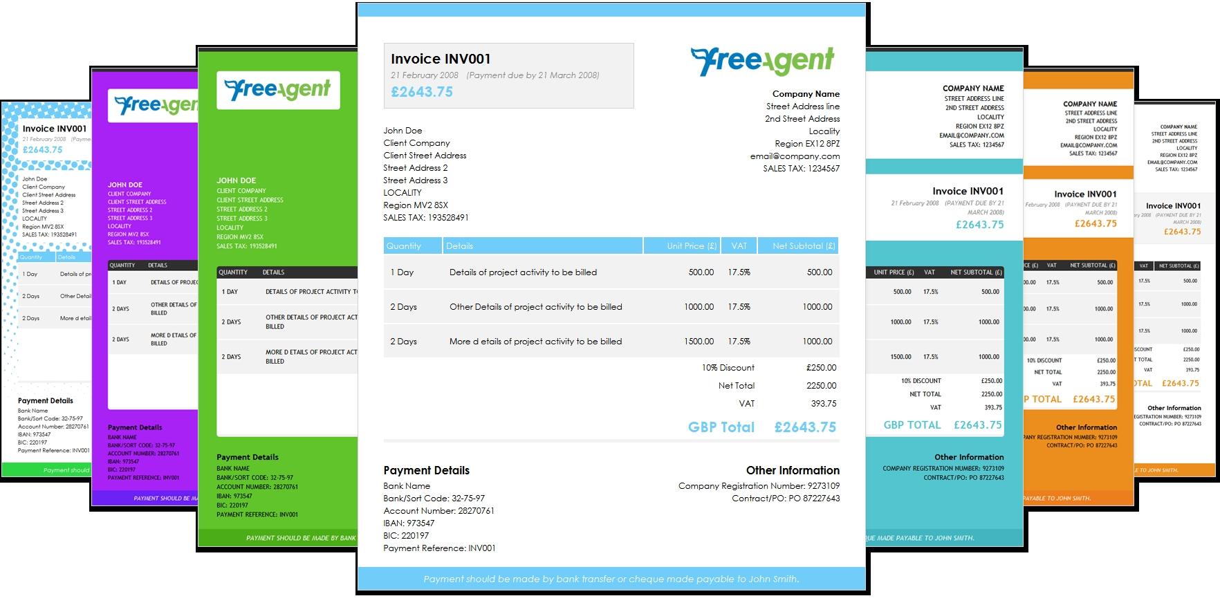 freeagent invoice templates premium templates to make your css invoice template