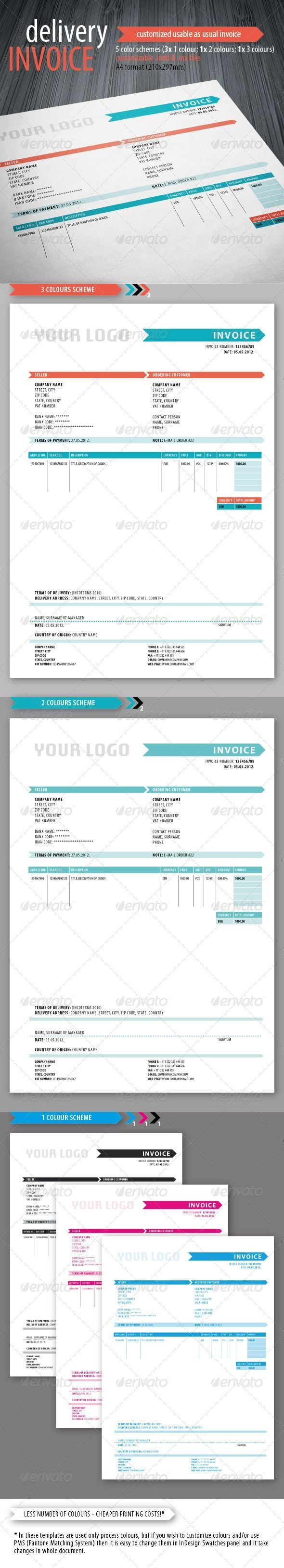 indesign invoice template delivery invoice template proposals amp invoice template indesign 590 X 3259
