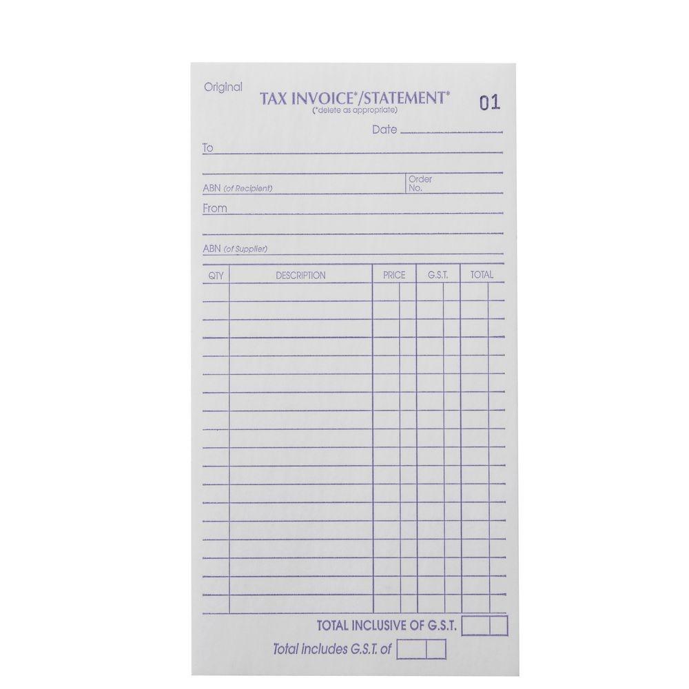 invoice books officeworks tax invoice statement