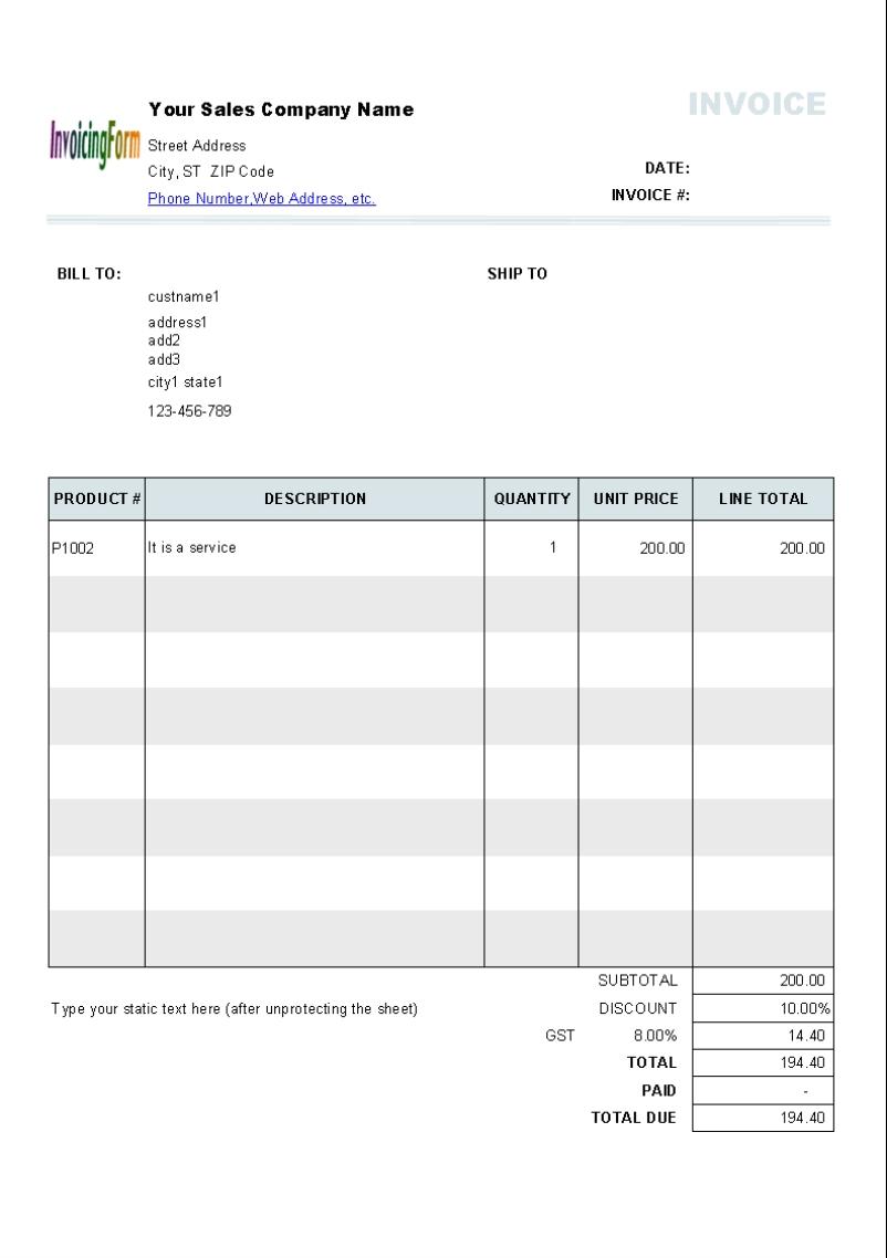 invoice template australia no gst invoice template ideas