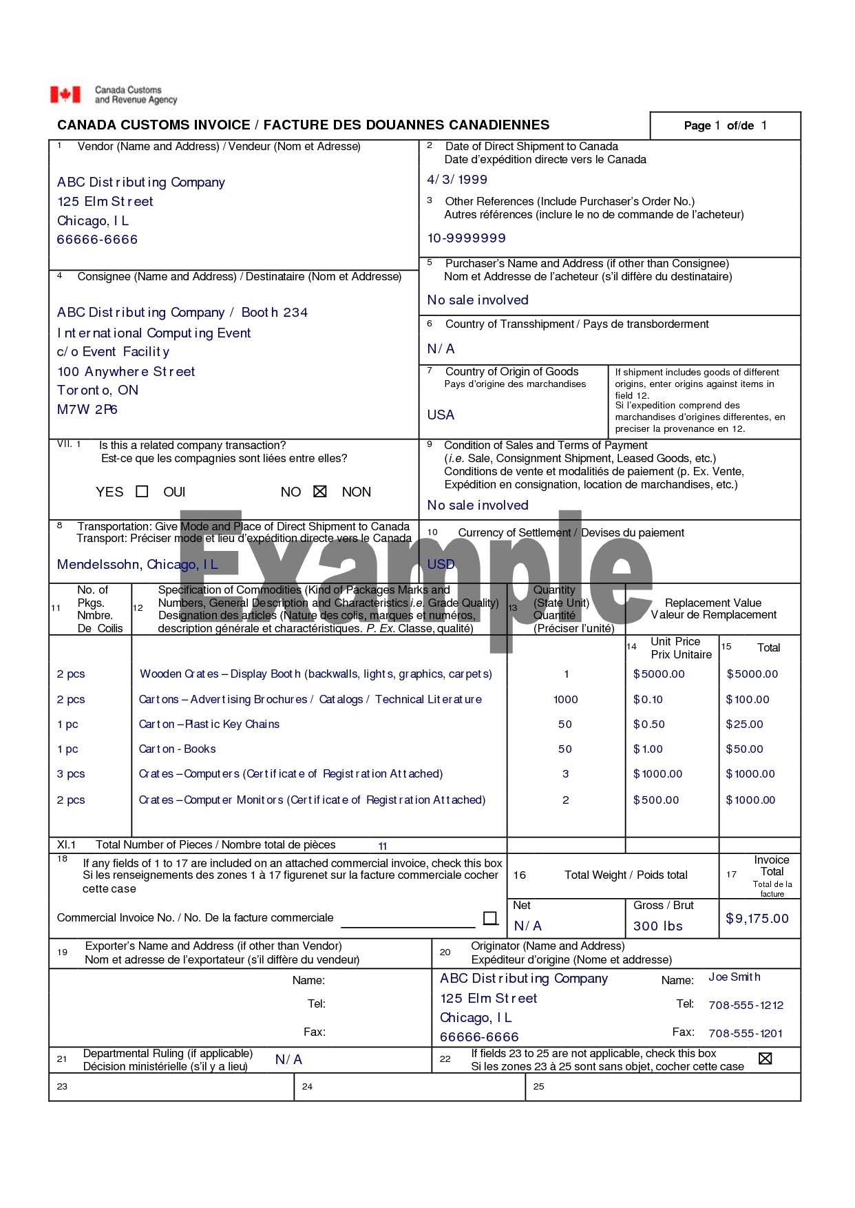 invoice template canada commercial invoice template canada invoice template free 2016 1242 X 1754
