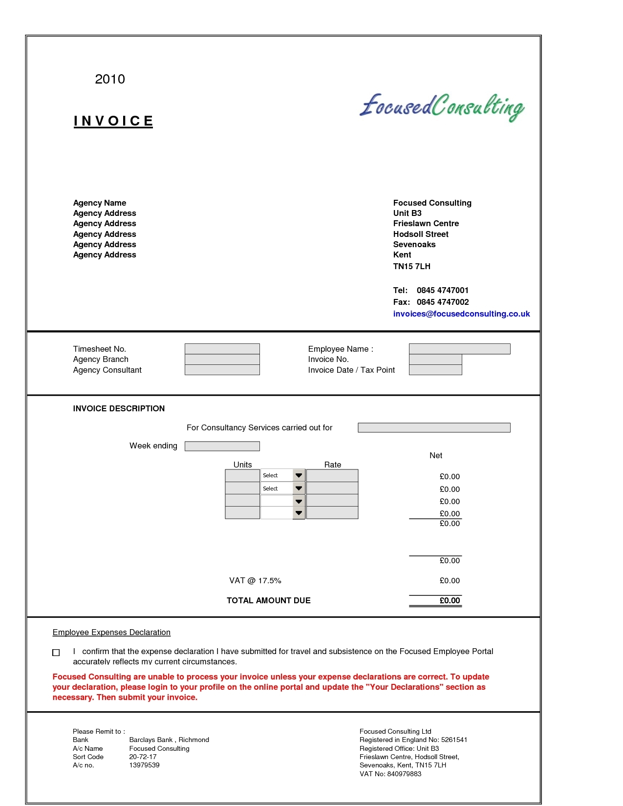 consultant invoice template for excel formiles info
