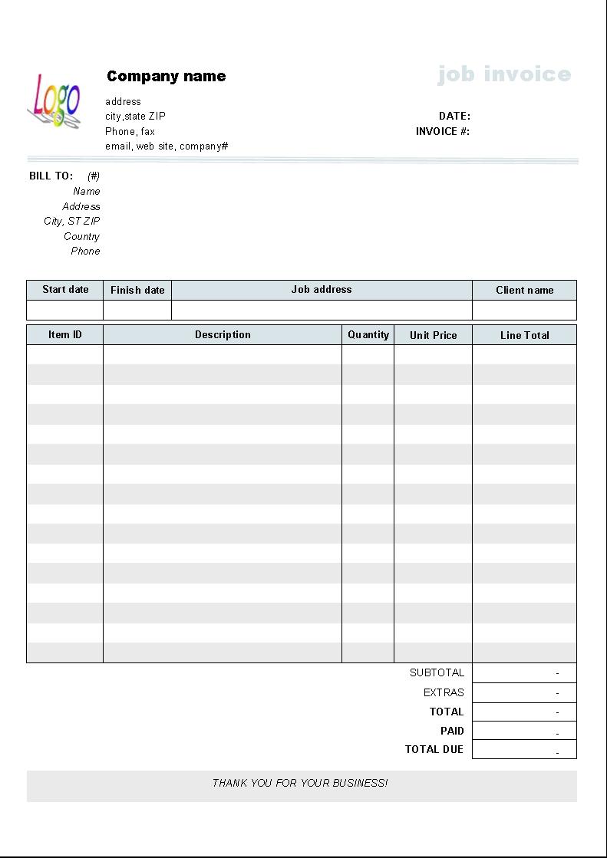 job service invoice template uniform invoice software microsoft works invoice template