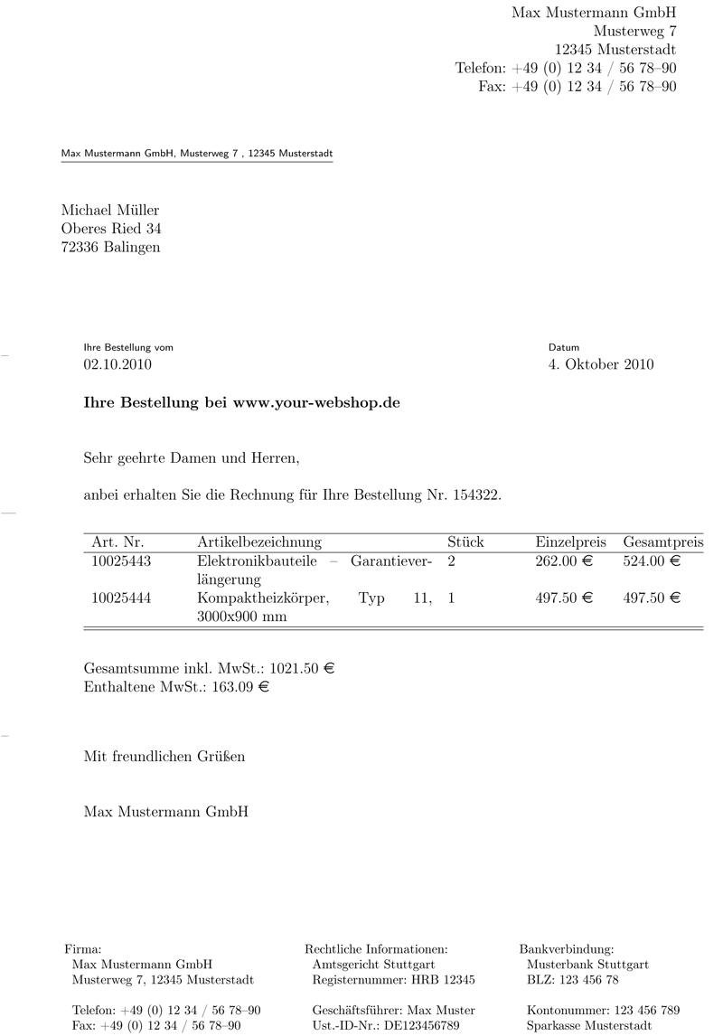 latex latex invoice template