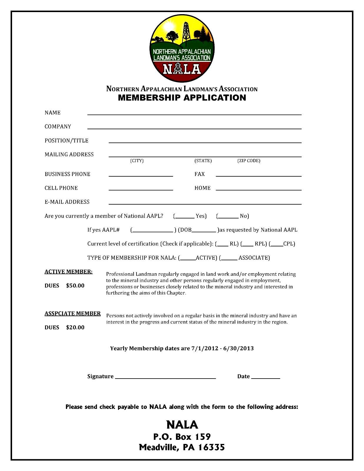 membership application form template besttemplate123 membership invoice template