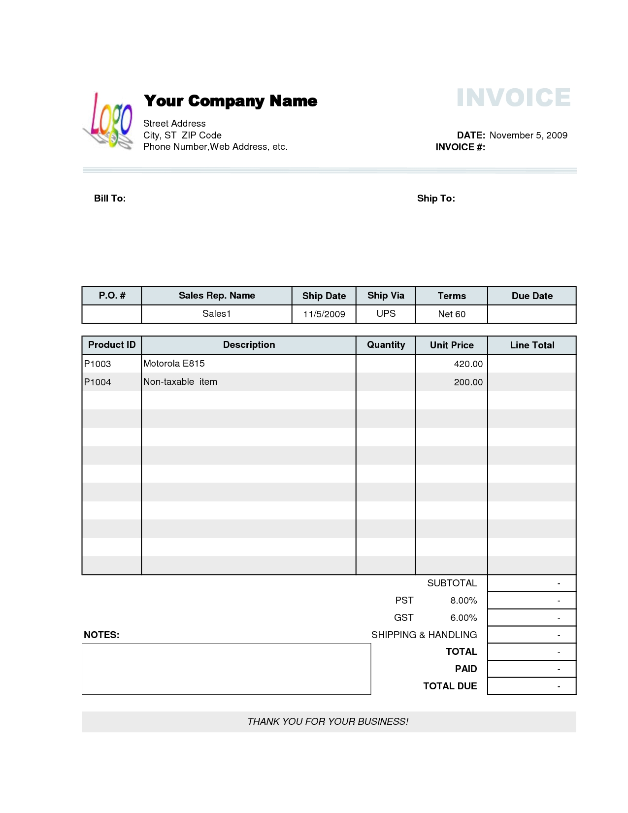photo shipping invoice template images company invoice template